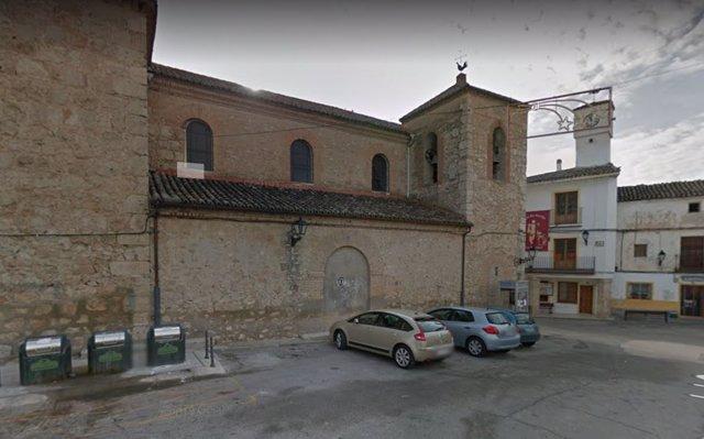Plaza Mayor de Ambite, lugar del asesinato