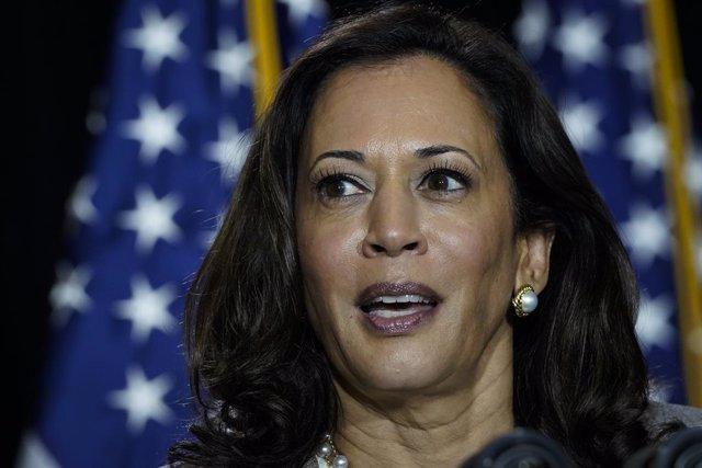 La candidata a vicepresidenta por el Partido Demócrata a las elecciones de Estados Unidos, Kamala Harris.