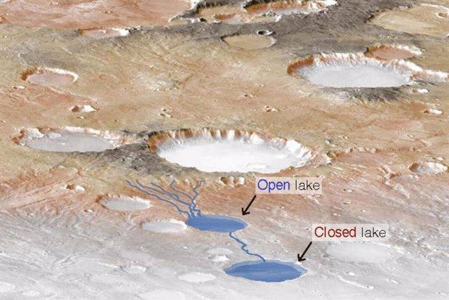Tormentas globales persistentes alimentaron los ríos y lagos en Marte