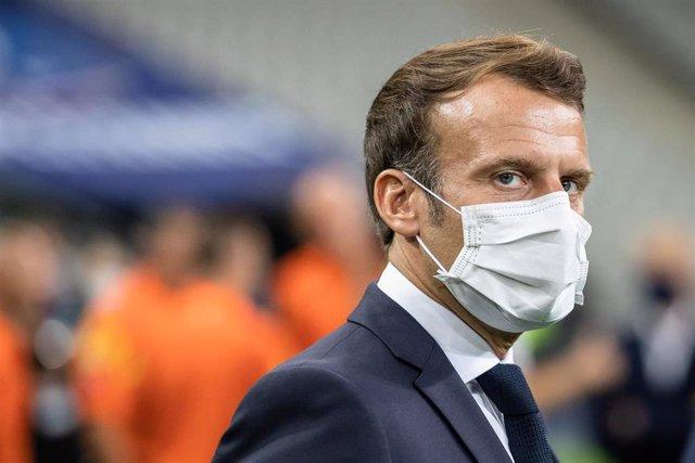 Emmanuel Macron asiste a la final de la Copa de Francia
