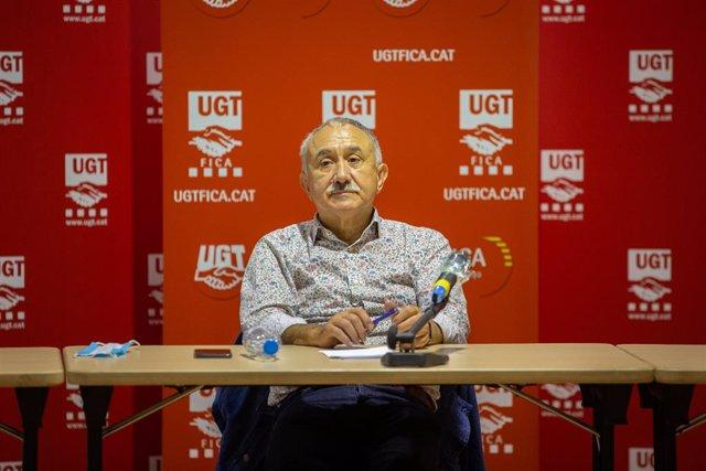 El Secretari General d'UGT, Pepe Álvarez, a Barcelona, Catalunya (Espanya) a 8 de juny de 2020.