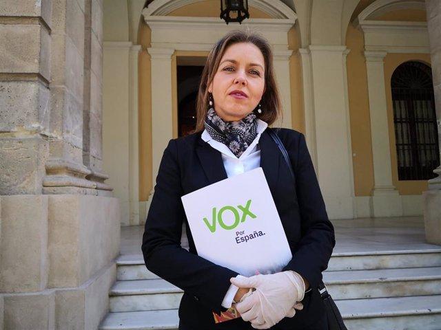 La portavoz de Vox en el Ayuntamiento de Sevilla, Cristina Peláez