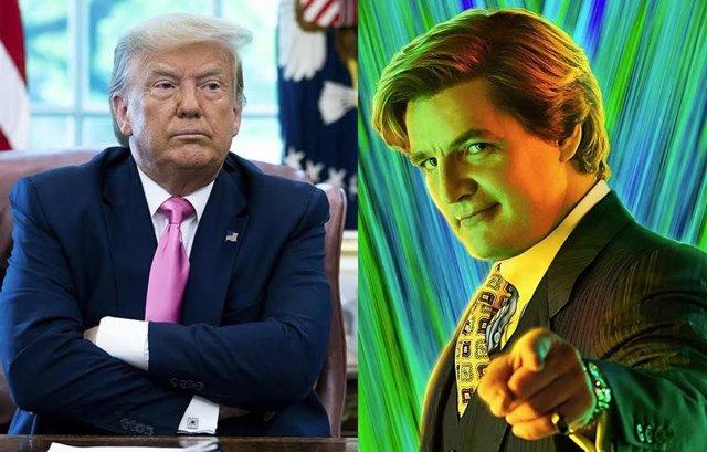 Pedro Pascal como Maxwell lord en Wonder WOman 1984, inspirado en Donald Trump