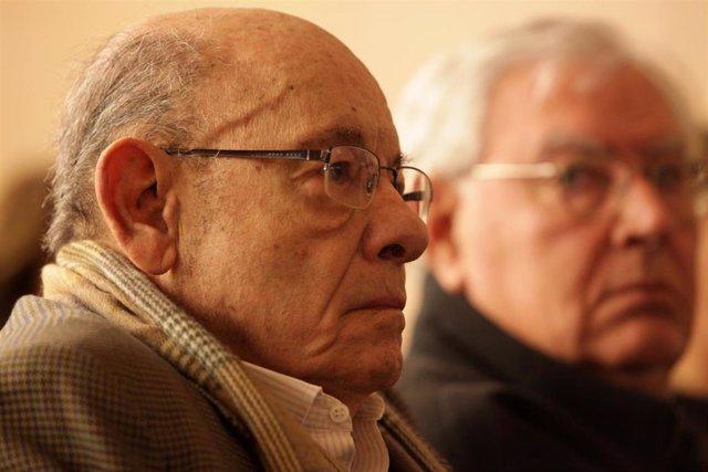 Fèlix Millet al costat de Jordi Montull en el banc dels acusats en el judici pel cas Palau
