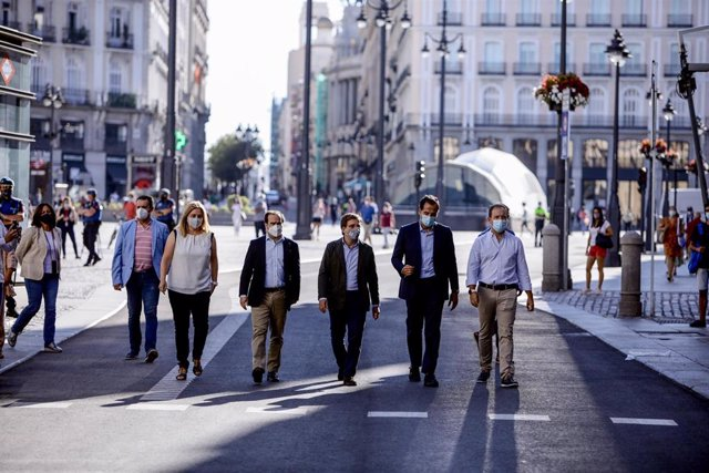 Inauguración de la peatonalización de la Puerta del Sol.