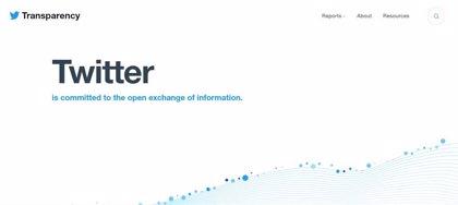 Portaltic.-Twitter lanza un Centro de Transparencia con datos centralizados y por países