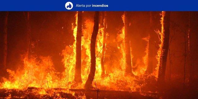 Alerta por incendios en Canarias