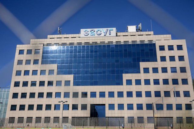 Foto del exterior del edificio de Sacyr en Madrid