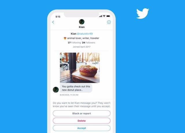 Información de contexto en Mensajes Directos de Twitter