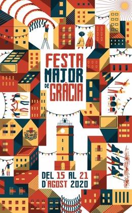Cartell de la Festa Major de Gràcia 2020