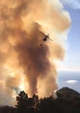 Incendio en la isla de La Palma.