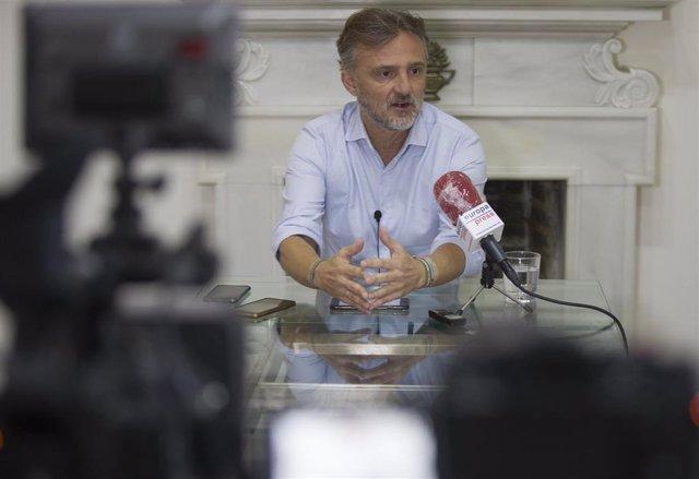 José Fiscal, durante la entrevista