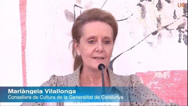 La consellera de Cultura de la Generalitat, Mariàngela Vilallonga, en la 52 Universitat Catalana d'Estiu (UCE) en Prada de Conflent (França)