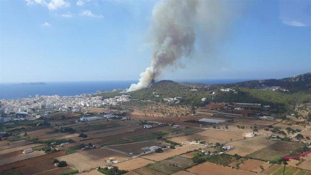 Incendio en Sant Antoni de Portmany.