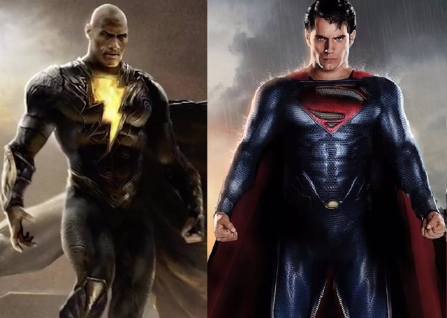 Dwayne Johnson (Black Adam) vs Henry Cavill (Superman)