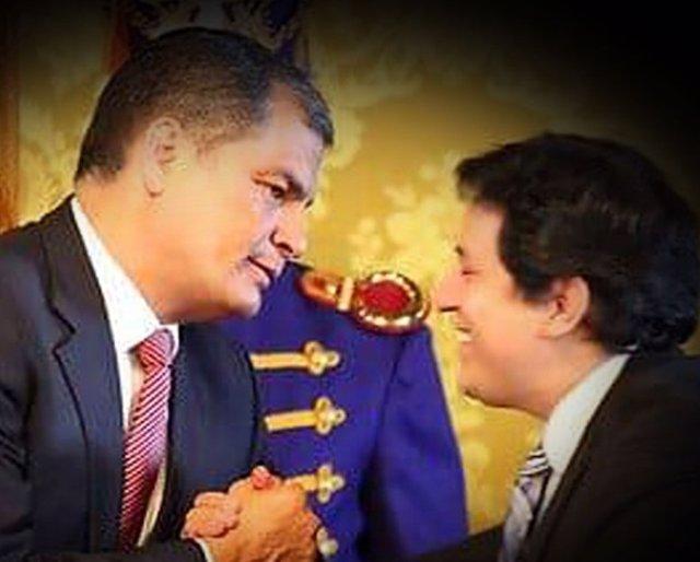Rafael Correa y Andrés Arauz