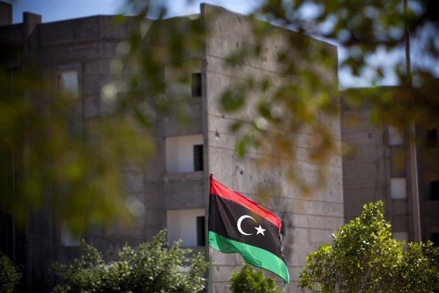 Bandera libia en Sirte