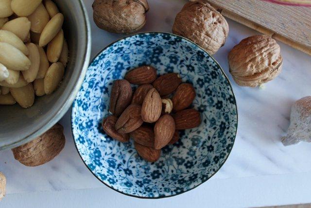 Zinc, almendras, frutos secos