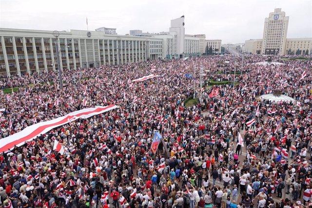 Protesta contra Alexander Lukashenko en Minsk