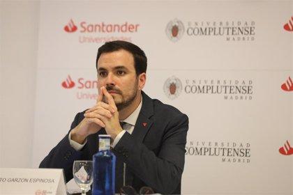 """Garzón, a diferencia de Robles, pide reunir la mesa sobre Cataluña """"cuanto antes mejor"""""""