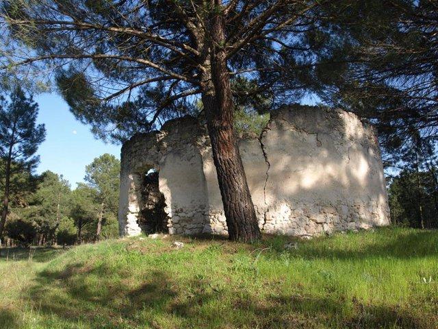 Palomar levantado en el emplazamiento del desaparecido convento agustino de Santa María del Pino.