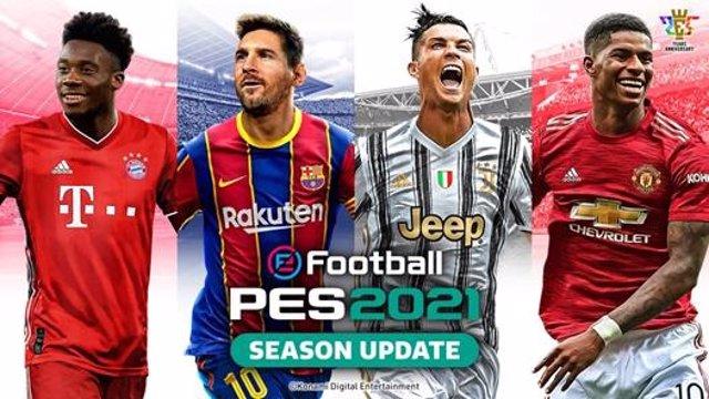 Messi y Cristiano Ronaldo, juntos en la portada de eFootball PES 2021 Season Upd