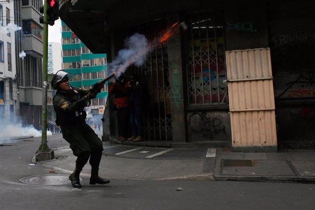 Respuesta policial a las protestas tras las elecciones de 2019 en Bolivia