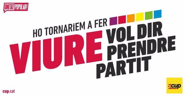 Cartell de la campanya de la CUP pel referèndum de el 1-O