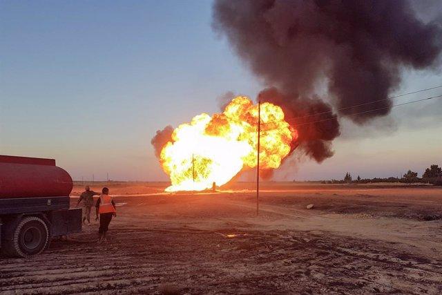 Siria.- Una explosión en un gasoducto cerca de Damasco provoca cortes de electri