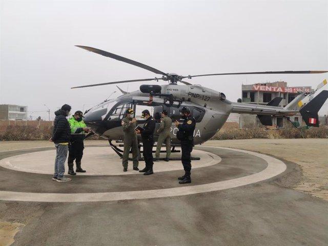 Helicóptero de la Policía de Perú