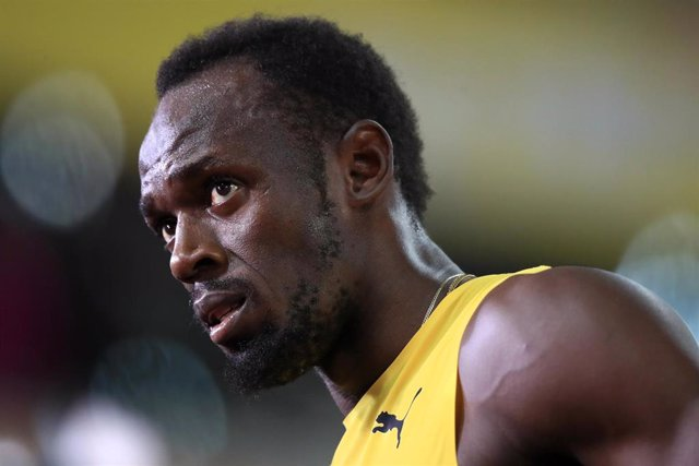 FILED - 05 August 2017, England, London: Jamaica's Usain Bolt is seen during the 2017 World Championships in Athletics. Eight-time Olympic sprint champion Bolt may have the coronavirus and has gone into quarantine, he announced in a video posted on Twitte