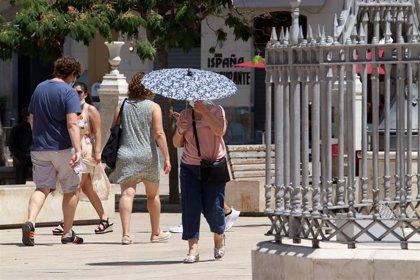 Avisos amarillos por altas temperaturas este martes en varias comarcas de Córdoba, Granada, Huelva, Jaén y Sevilla