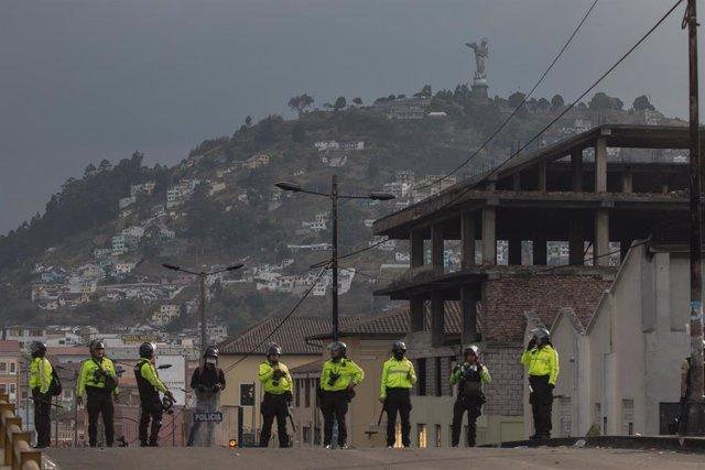 Policía de Ecuador (Imagen de archivo)