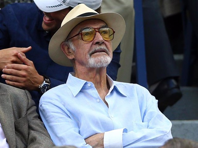 Actor Sean Connery Attend The Men's Singles Semifinals Match Of The 2015 US Open