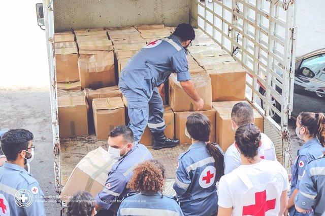 Líbano.- Cruz Roja Española envía material sanitario y medicamentos a Beirut