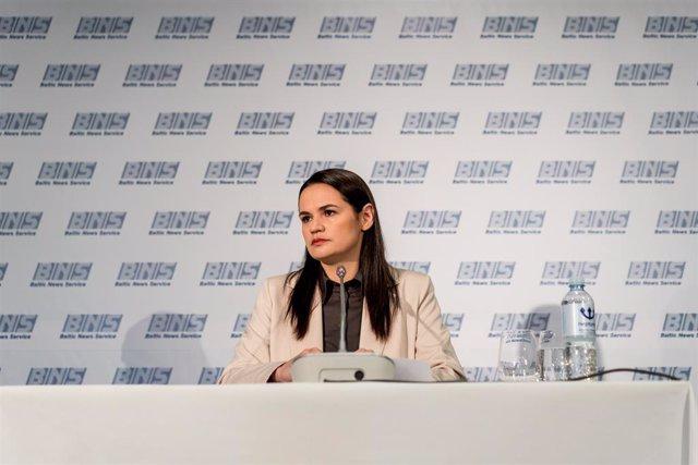 Bielorrusia.- Tijanovskaya asegura ante la Eurocámara que las protestas no son a