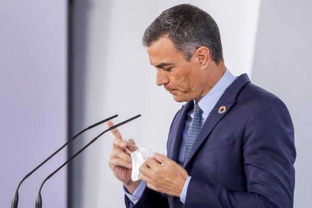 El presidente del Gobierno, Pedro Sánchez,.  25 de agosto de 2020.