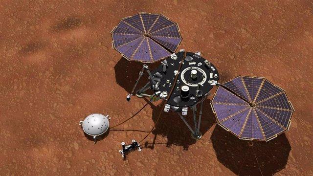 Apagón de la estación meteorològica de la misión InSight en Marte