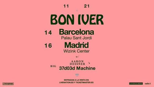 Concerts de Bon Iver a Barcelona i Madrid al novembre de 2021