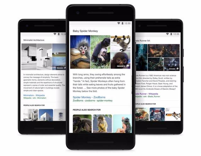 Google prueba los vídeos cortos en vertical en el apartado Descubre