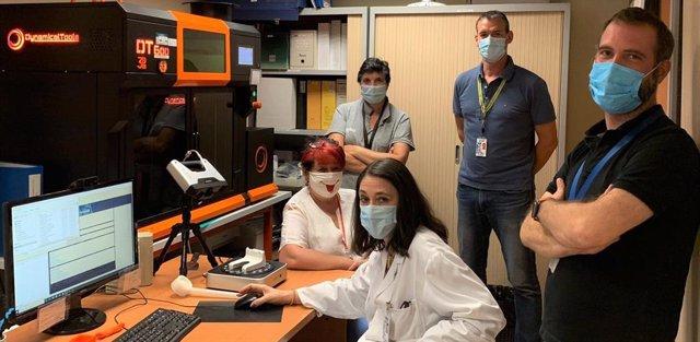 El equipo de ingeniería del Hospital Universitario Miguel Servet de Zaragoza