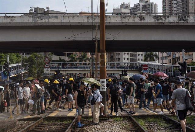 China.- Detenidos dos diputados opositores de Hong Kong por las protestas de 201