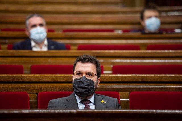 El vicepresident de la Generalitat, Pere Aragonès, en una foto d'arxiu.