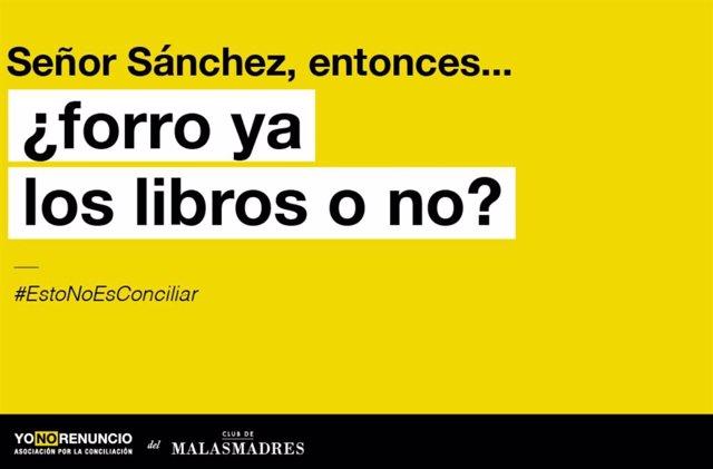 """Malasmadres pide al Gobierno una vuelta al colegio """"segura"""" y un plan de conciliación"""