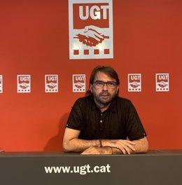 El secretari general d'UGT de Catalunya, Camil Ros.