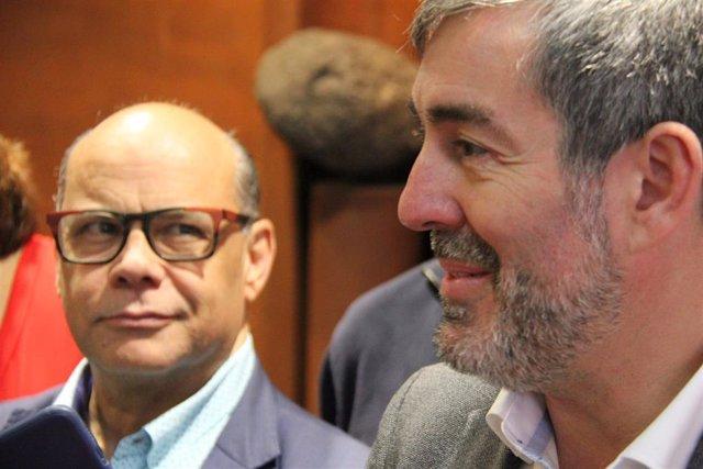 El ex presidente de Canarias, Fernando Clavijo, junto al secretario general de CC, José Miguel Barragán