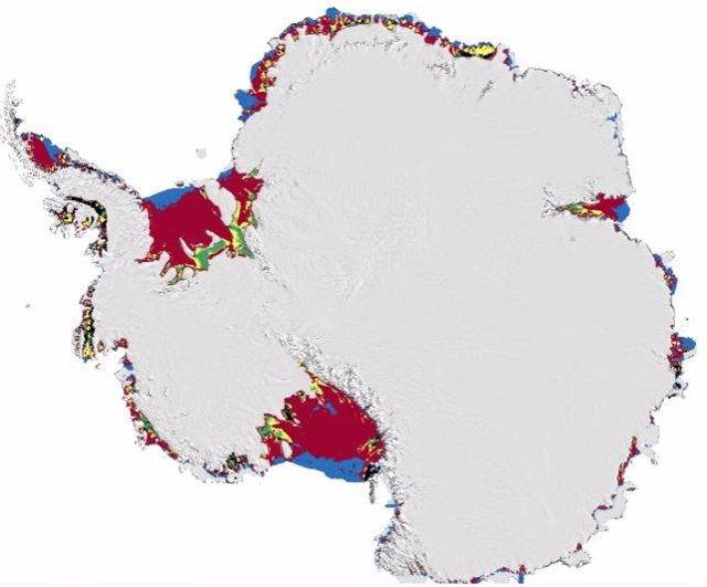 Las banquisas antárticas serán presa fácil del agua de deshielo