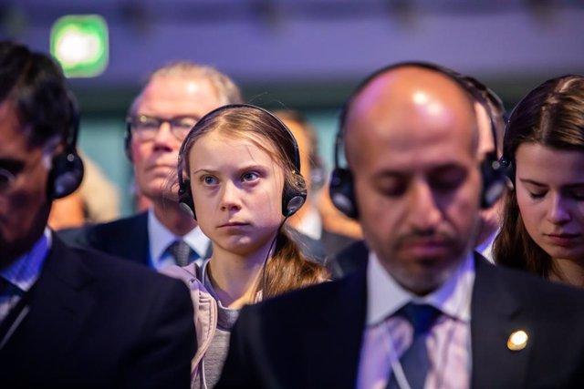 L'activista sueca Greta Thunberg.
