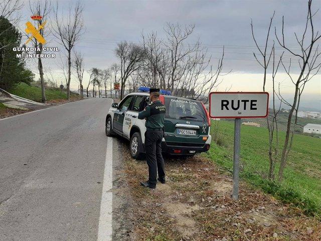 Guardia Civil en Rute.