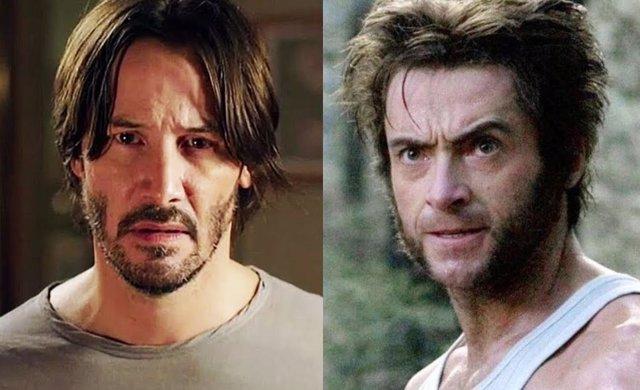 Keanu Reeves en 'Toc toc' y Hugh Jackman como Lobezno en la saga 'X-Men'